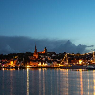 Flensburg Panorama mit der Dannebrog