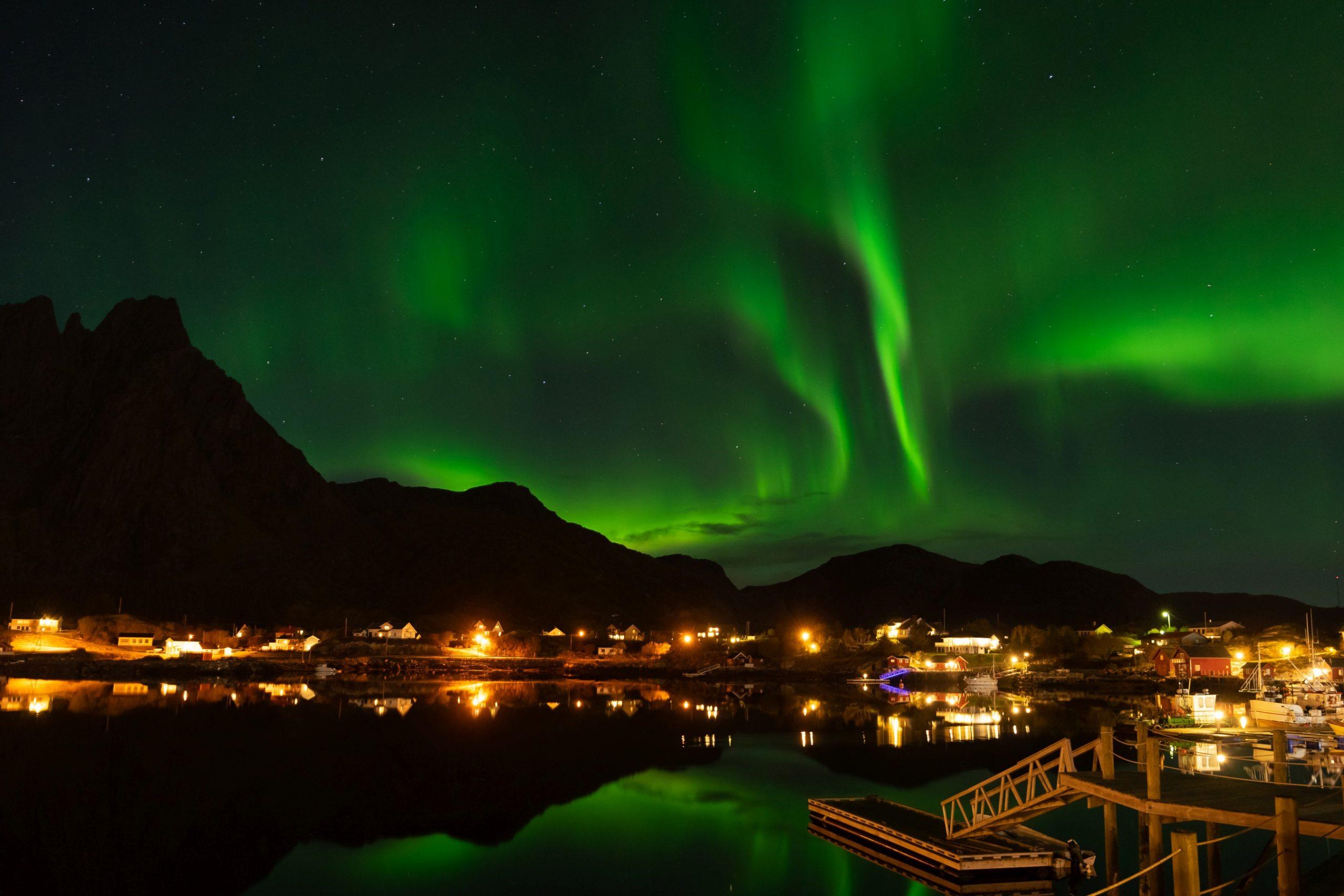 Aurora Borealis in Ballstad, Lofoten
